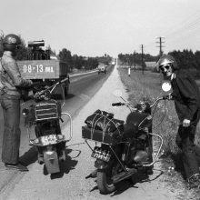 Prisiminimai: nors vėliau pasirinko fotoaparatą, laiko ant motociklo R.Požerskis niekada nesigailėjo.