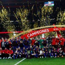"Karaliaus taurės finale – ""Barcelonos"" pergalė ir L. Messio rekordas"