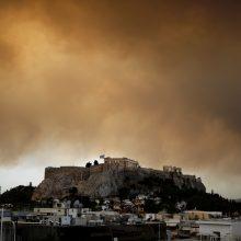 Atėnus apgaubė didelio miškų gaisro dūmai