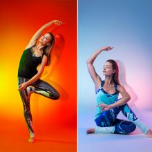 M. Jašinskytė pristatė jogai skirtų drabužių kolekciją