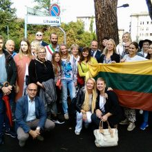 Sovietų sąjungos gatvė Florencijoje pervadinta Lietuvos vardu