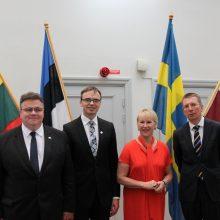 L. Linkevičius: Baltijos šalis ir Švediją sieja bendros vertybės
