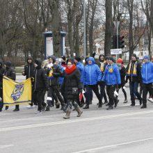 Klaipėdoje suplevėsavo Europos sporto vėliava