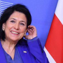 Lietuvoje lankysis Gruzijos prezidentė