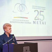Konstituciniam Teismui D. Grybauskaitė linki išlikti objektyviam