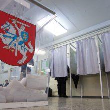 Balsavimo kabinose per rinkimus nebeliks užuolaidų