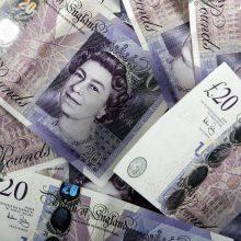 Anglijos bankas iš veganus papiktinusių polimerų gamins ir naujus 20 svarų banknotus