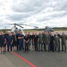 Lietuvos karo lakūnai baigė gesinti miškų gaisrus Švedijoje