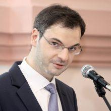 Teisingumo ministras VRK nariu siūlo skirti teisininką T. Rutkūną