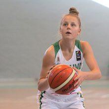 16-metės krepšininkės kontrolinėse rungtynėse įveikė baltaruses