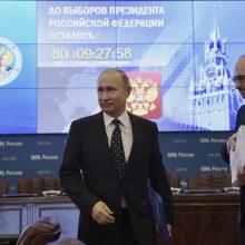 V. Putinas asmeniškai pateikė dokumentus dėl balotiravimosi į prezidento postą