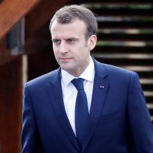 E. Macronas: G7 lyderiai neturi bijoti siekti susitarimų nedalyvaujant JAV