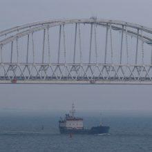 Antro Rusijos sulaikyto Ukrainos laivo vadas atsisakė duoti parodymus