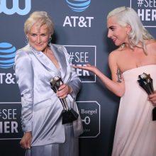 Kritikų pasirinkimo apdovanojimuose geriausia aktorė – ir G. Close, ir Lady Gaga
