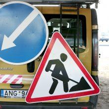 Dėl darbų Rodūnios kelyje – laikini eismo pakeitimai
