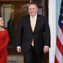 M. Pompeo: JAV nori dirbti su Europa dėl naujo Irano branduolinio susitarimo