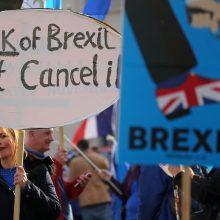 """Londonas neigia planuojantis sąmokslą dėl paskutinės minutės """"Brexit"""" balsavimo"""