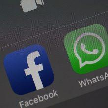 """Mažėja """"Facebook"""" naujienų vartotojų, """"WhatsApp"""" auga"""