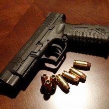 Kažkas į teismą atsinešė dujinį pistoletą ir šovinių