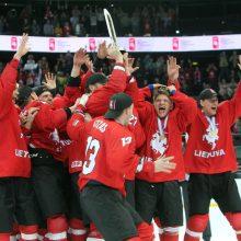 """""""Hockey Lietuva"""" vadovas apie lietuvių triumfą: esame jau arti elito"""