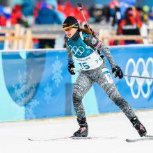 Biatlonininkė D. Rasimovičiūtė Pjongčango olimpinėse žaidynėse - 65-a