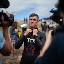 Siekia rekordo: prancūzų plaukikas iš naujo mėgina įveikti Ramųjį vandenyną