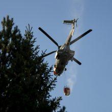 Latvija prašo tarptautinės pagalbos gaisrui šalies vakaruose užgesinti