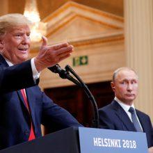 Po incidento Kerčės sąsiauryje D. Trumpas svarsto atšaukti susitikimą su V. Putinu