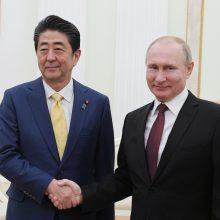 V. Putinas ir Sh. Abe susitiko ieškoti Kurilų salų problemos sprendimo