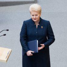 D. Grybauskaitei – valdančiųjų ir opozicijos kritika dėl pasyvumo