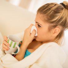 Lietuvoje auga sergamumas gripu ir peršalimo ligomis
