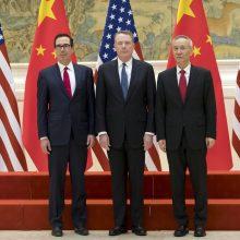 JAV derybininkas: JAV-Kinijos prekybos derybose išlieka labai sudėtingų klausimų