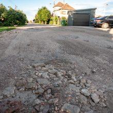 Savivaldybė į priekaištus: anksčiau ar vėliau bus sutvarkytos visos gatvės