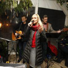 Pajūryje prie molo skambėjo Kalėdų giesmės