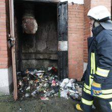 Gesindamas gaisrą daugiabutyje kaunietis apdegė rankas ir veidą