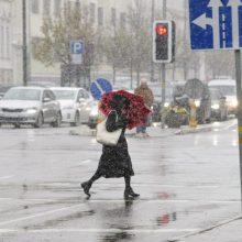 Orai: į šalį grįžta sniegas ir šaltukas