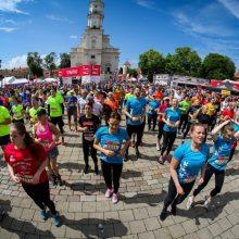 Sekmadienį Kauno centrą užtvindys bėgikai <span style=color:red;>(bus eismo ribojimų)</span>