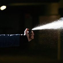 Nustatytas nepilnametis, Radvilų gimnazijoje papurškęs pipirinių dujų