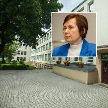 Kauno V. Kudirkos progimnazijos direktorė rausta teisme