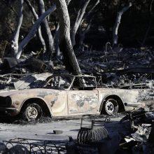 Kalifornijoje miškų gaisrų aukų skaičius pasiekė pusšimtį