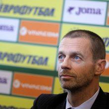 Pavasarį Lietuvą aplankys UEFA prezidentas