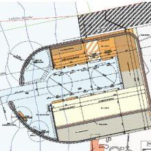 Vizija: 2011 m. studijoje buvo pateikta tokia galimo išorinio uosto ties Būtinge schema.