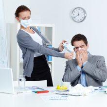 Gripas dar tik šiepia dantis
