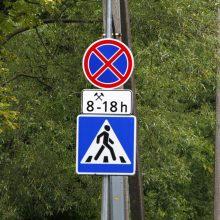 Apribojimai: vienuose Panevėžio gatvės ruožuose visiškai uždraustas automobilių stovėjimas, kituose – tik dienos metu.