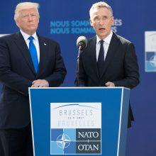 D. Trumpas patvirtino JAV įsipareigojimą NATO 5-ajam straipsniui