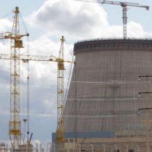 Sumontuotas Astravo AE pirmojo reaktoriaus korpusas