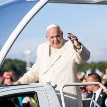 Popiežius Pranciškus meldžiasi Santakos parke (pildoma)