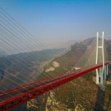 Kinijoje esantis tiltas pripažintas aukščiausiu pasaulyje