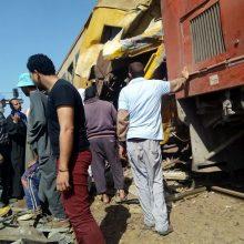 Egipte per traukinių susidūrimą žuvo mažiausiai 10 žmonių