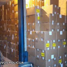 Kalvarijos savivaldybėje sulaikyta 250 tūkst. pakelių kontrabandinių cigarečių